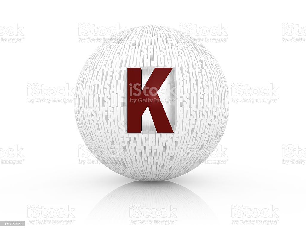 3d letter k royalty-free stock photo
