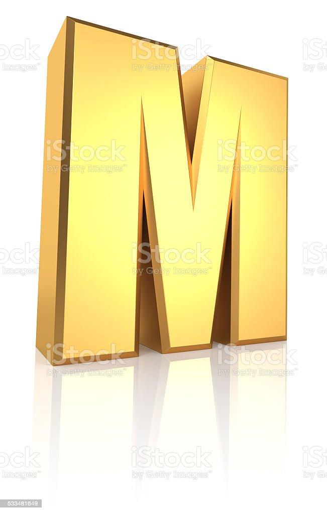 3d Letter M stock photo