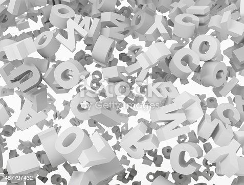513565925istockphoto 3d letters background 487797432