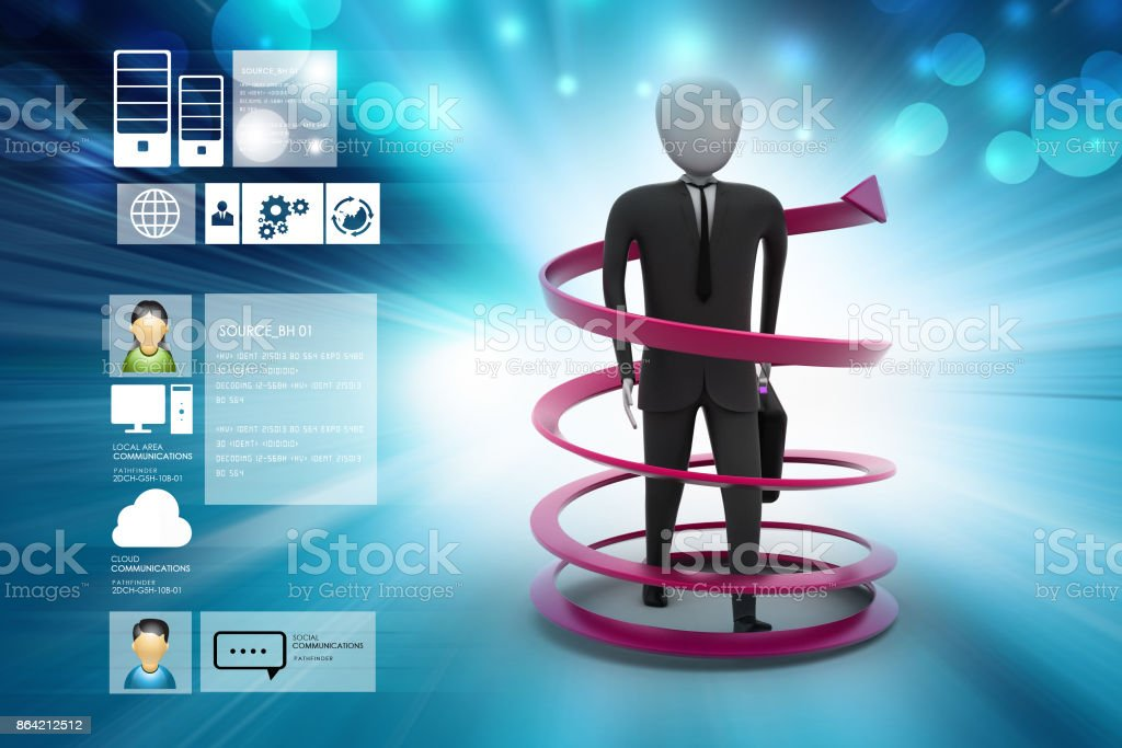 3d man business success concept royalty-free stock photo