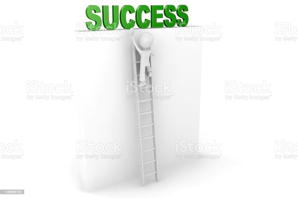 3d man climbing for success royalty-free stock photo