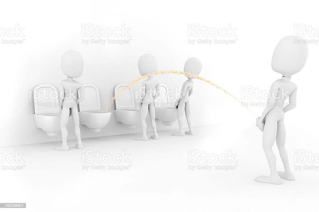 3d man for world piss:)) stock photo