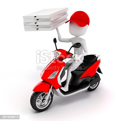 istock 3d man, pizza delivery 531638513