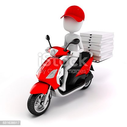 istock 3d man, pizza delivery 531638517