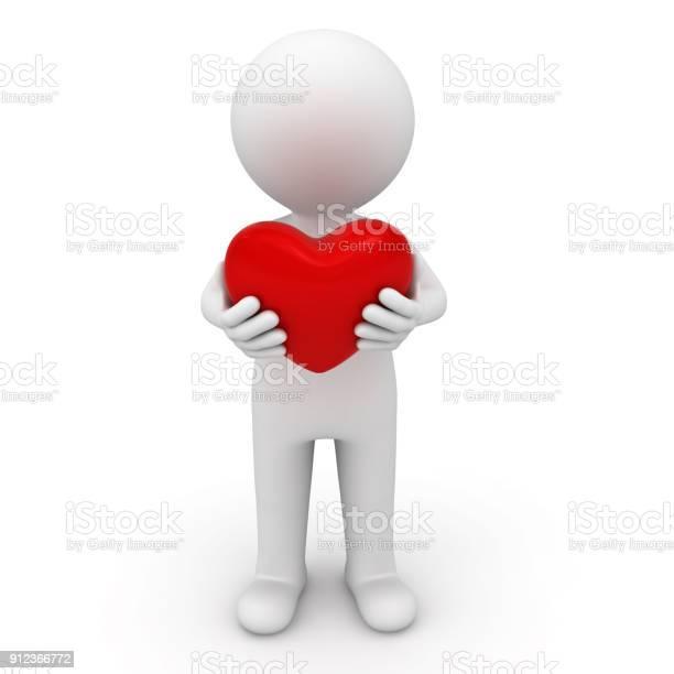 3d man standing and holding red heart isolated on white background picture id912366772?b=1&k=6&m=912366772&s=612x612&h=8mihezu nzz4vxwrnz birjyb rireihlve7zo9bphe=