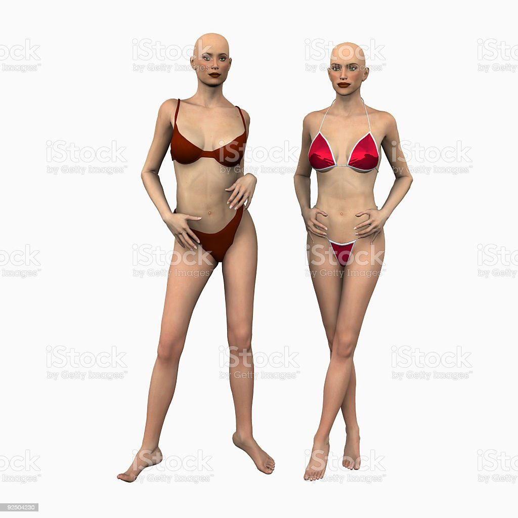 Mannequins 3d royalty-free stock photo