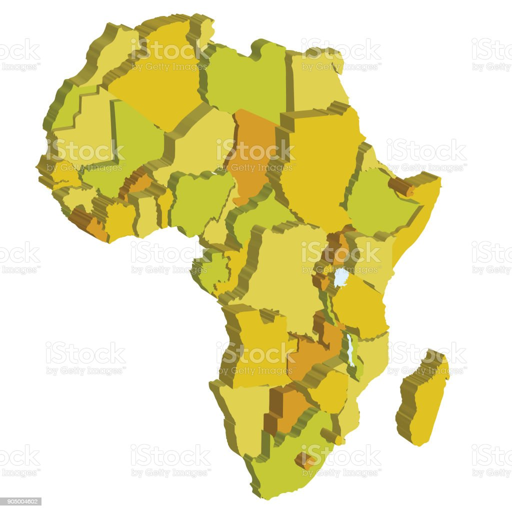 Map Of Africa 3d.3d Map Of Africa Stock Photo More Pictures Of Africa Istock