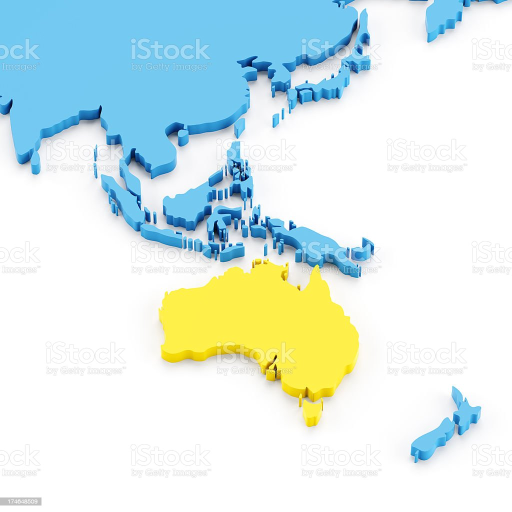 Free 3d Map Of Australia.3d Map Of Australia Stock Photo Download Image Now Istock
