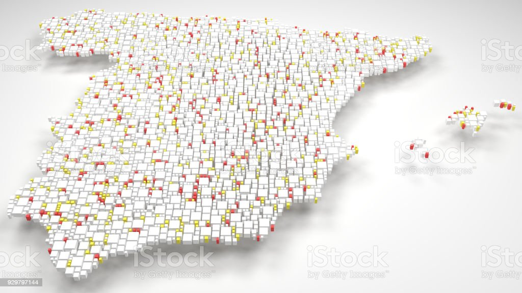 3d Map Of Spain.3d Map Of Spain Europe Stock Photo Download Image Now