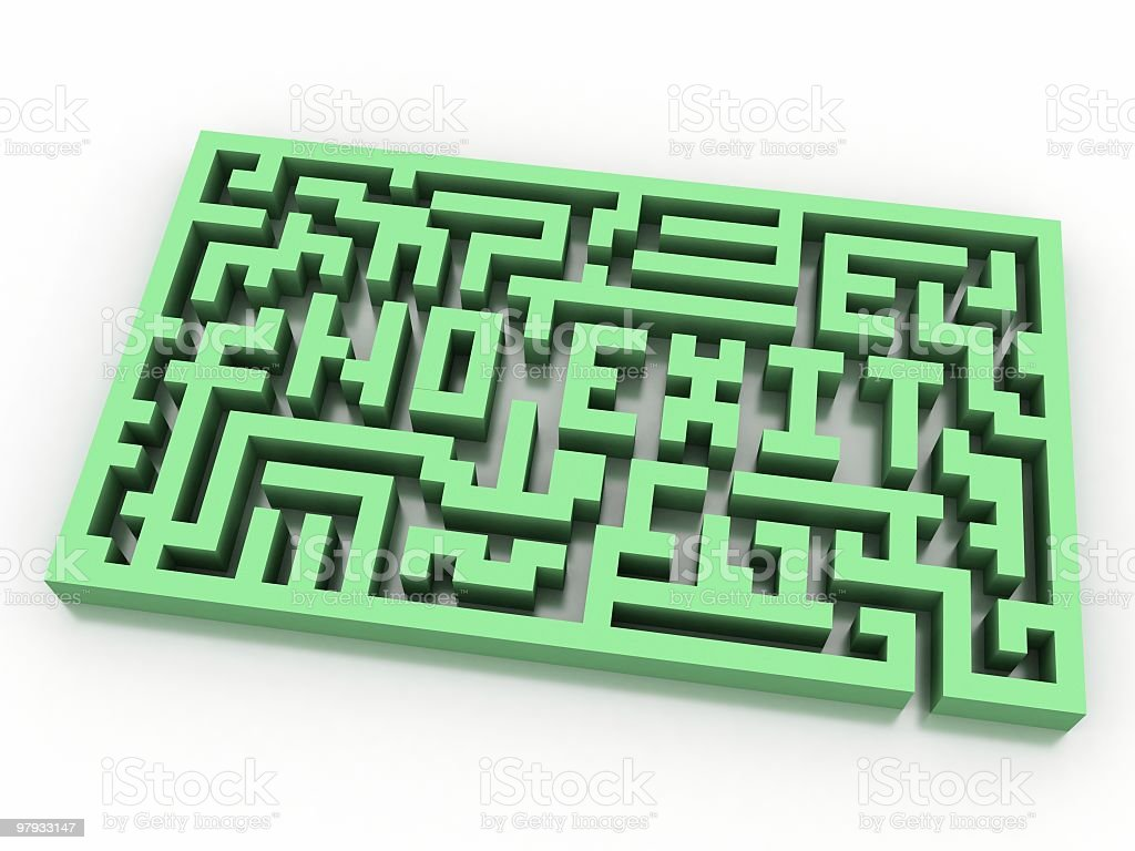 3d maze royalty-free stock photo
