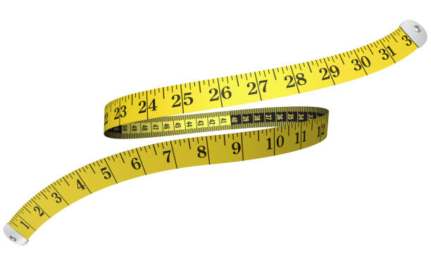 3d measuring tape stock photo