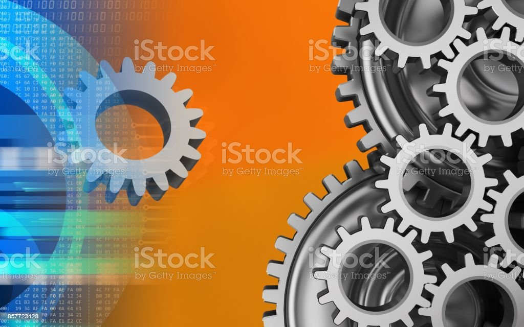 3d mechanic stock photo