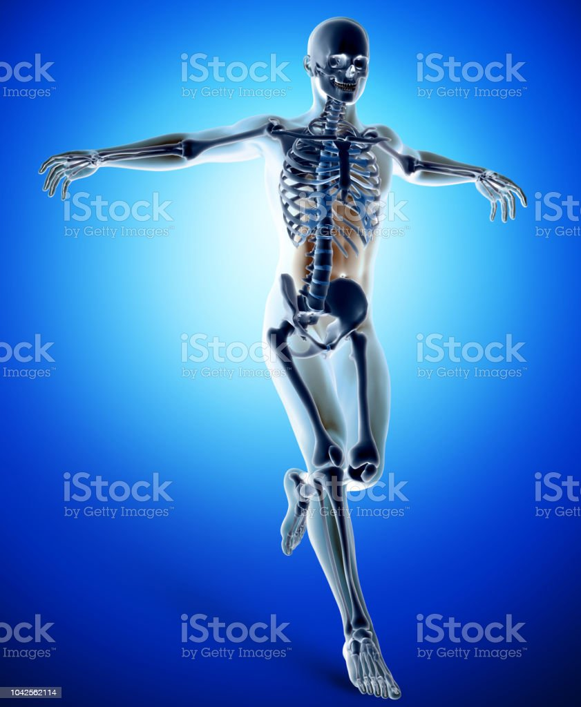 3d Medical Figure In Jumping Active Pose Stock Photo