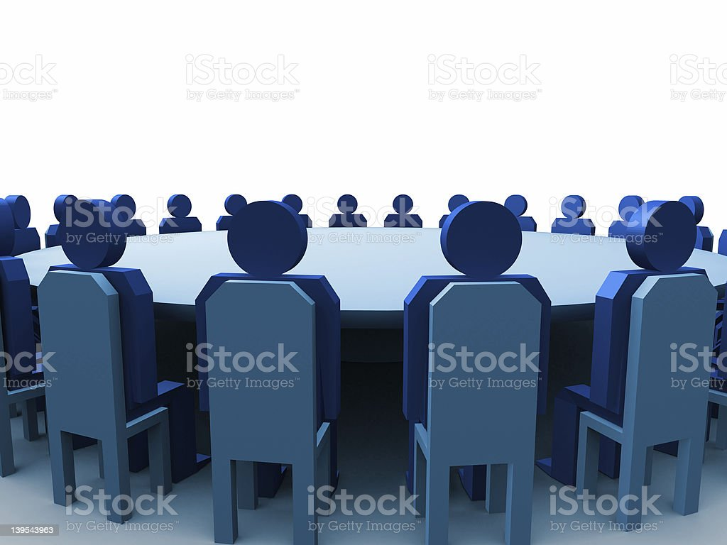 3d meeting royalty-free stock photo