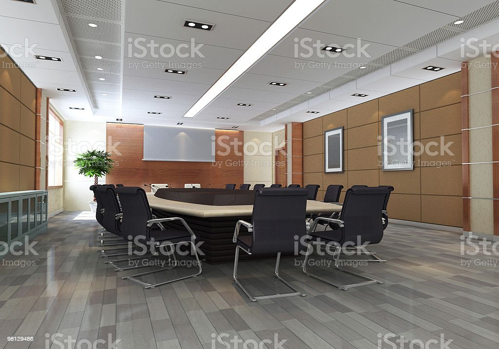 3d meeting room royalty-free stock photo