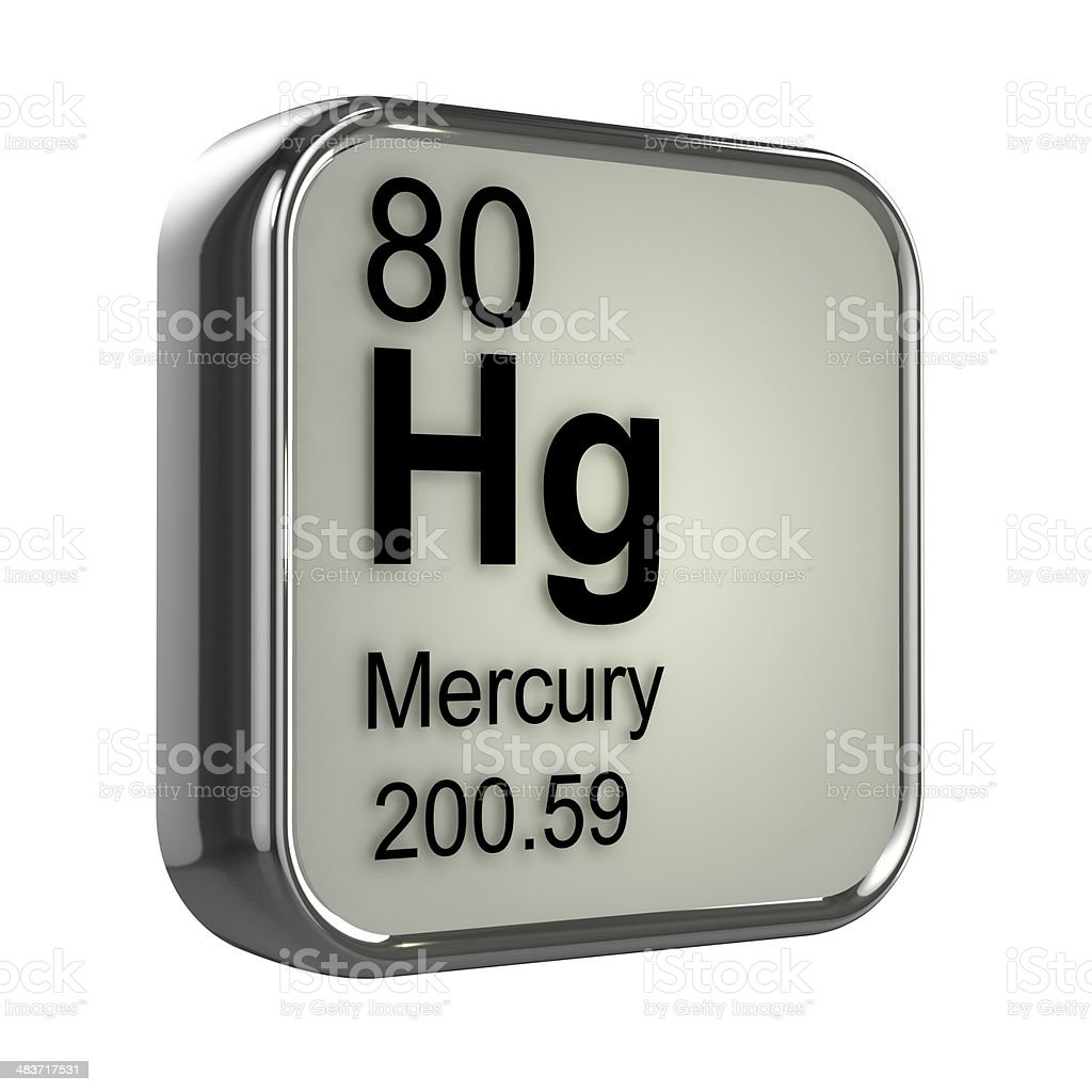 3d Mercury element stock photo