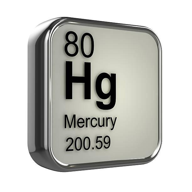 3d mercury element - mercury metal stock photos and pictures