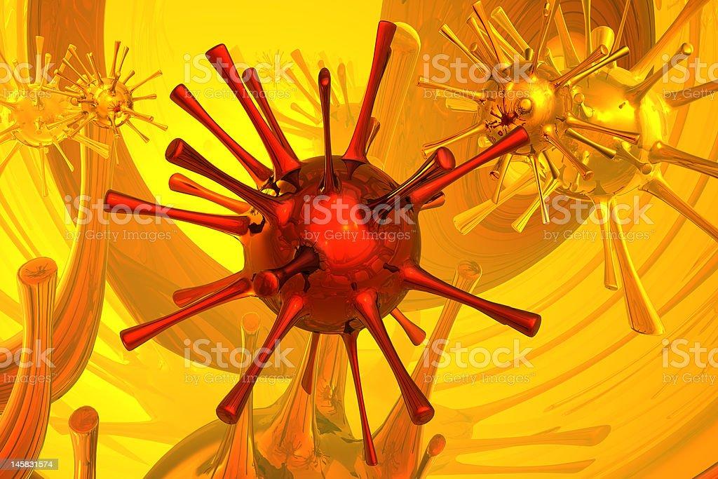 3d microbe royalty-free stock photo