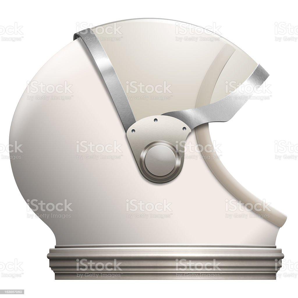 3d model of a white space helmet stock photo