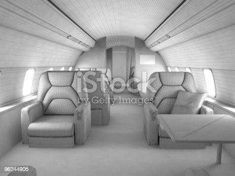 istock 3d model Private plane interior 96244905