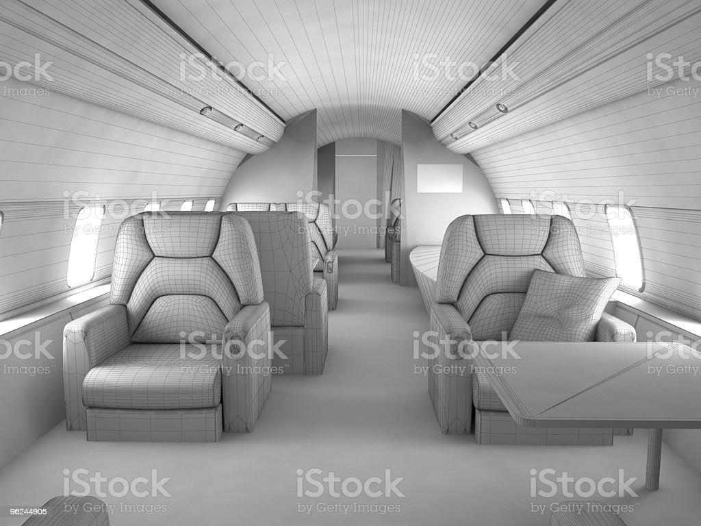 3d model Private plane interior stock photo