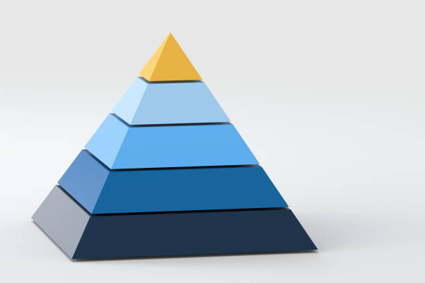 3d model pyramid, 3d rendering - pyramid stock photos and pictures