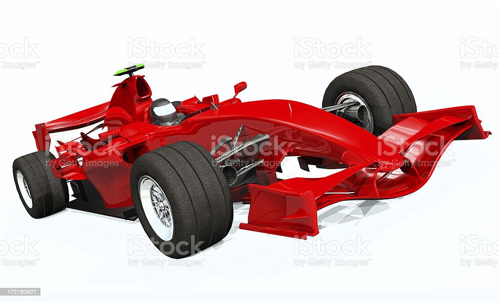 3d Model Render Ferrari F1 Car stock photo