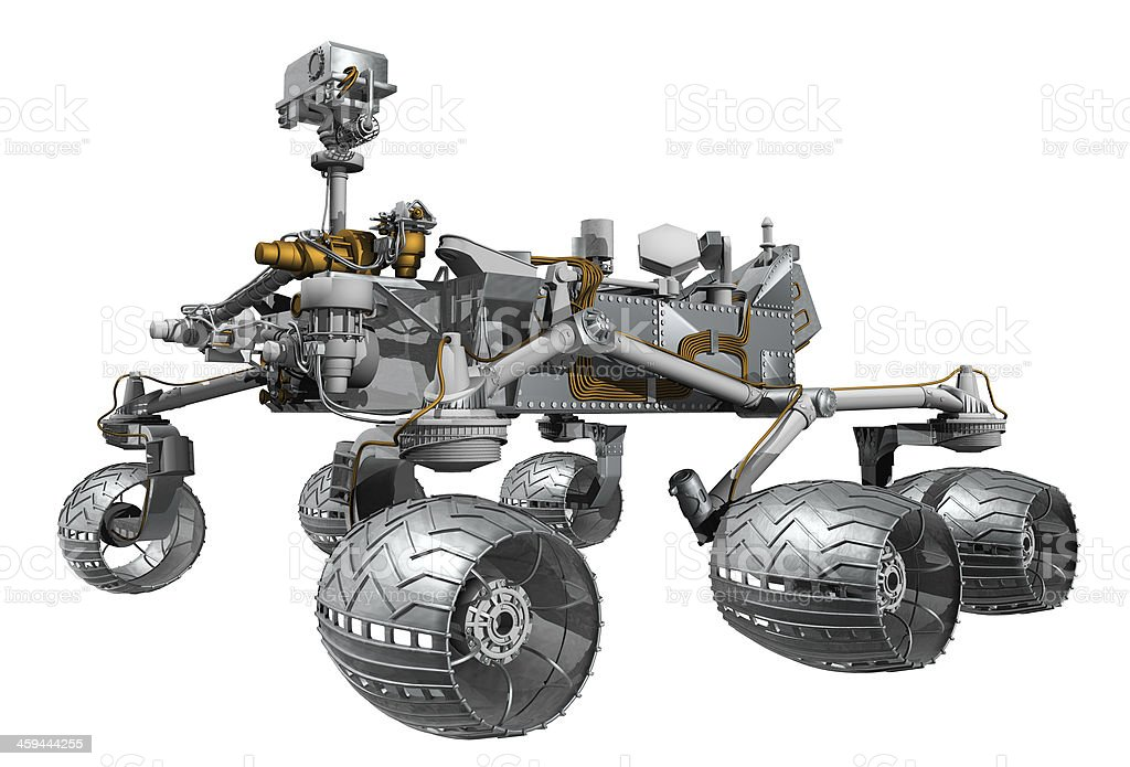 3d Model Render of Curiosity Mars Rover stock photo
