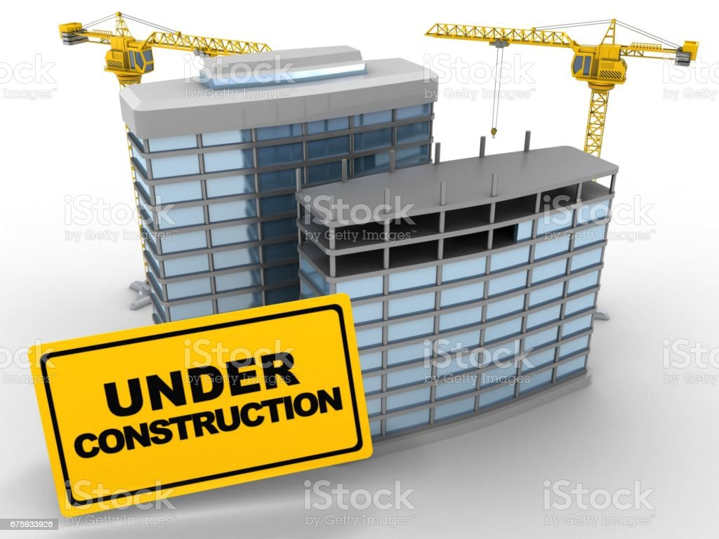 3d modern buildings stock photo