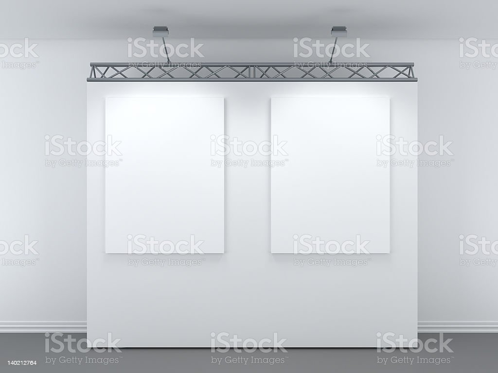 3d modern exhibition space royalty-free stock photo