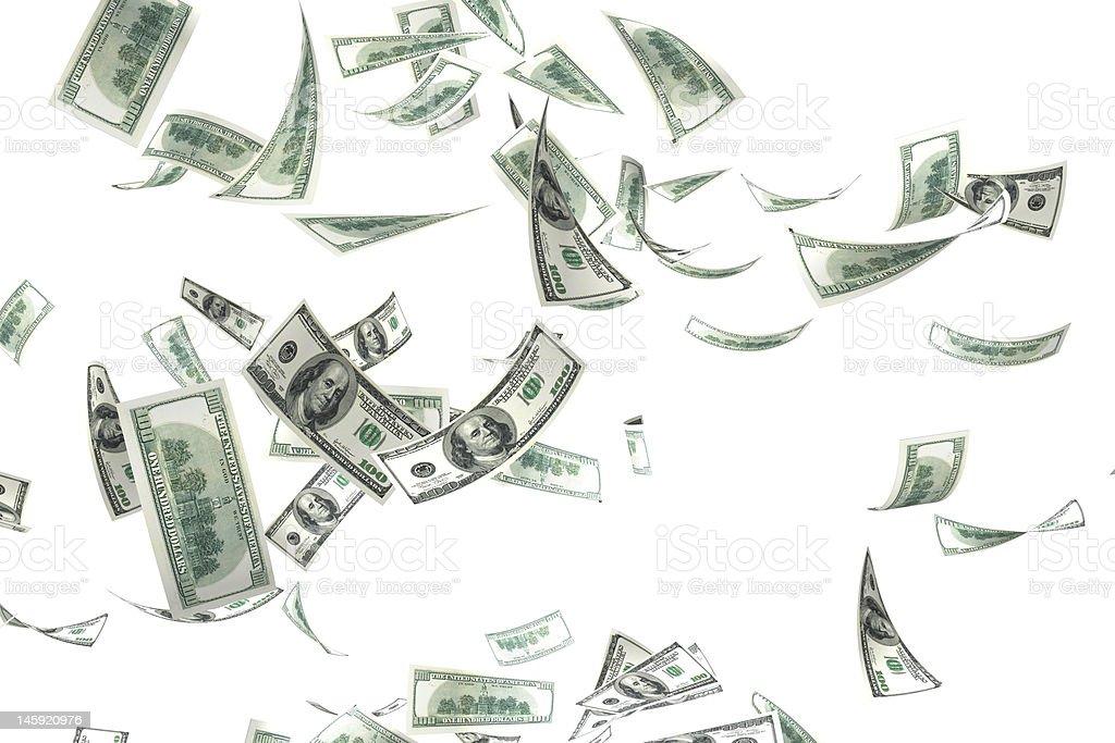 3 d Geld fallen – Foto