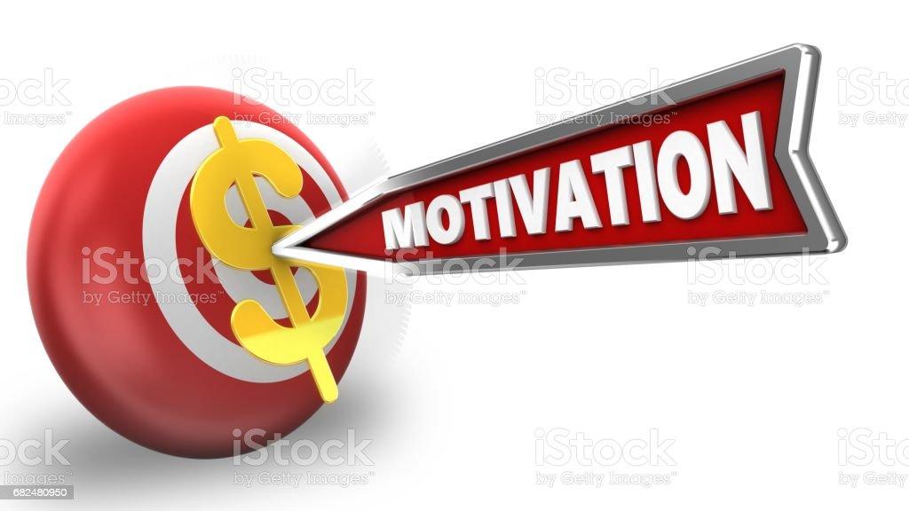 3d motivation arrow royalty-free stock photo