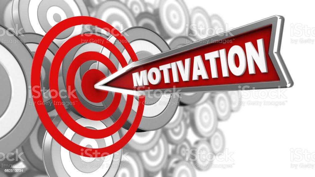 3D Motivation Pfeil Lizenzfreies stock-foto