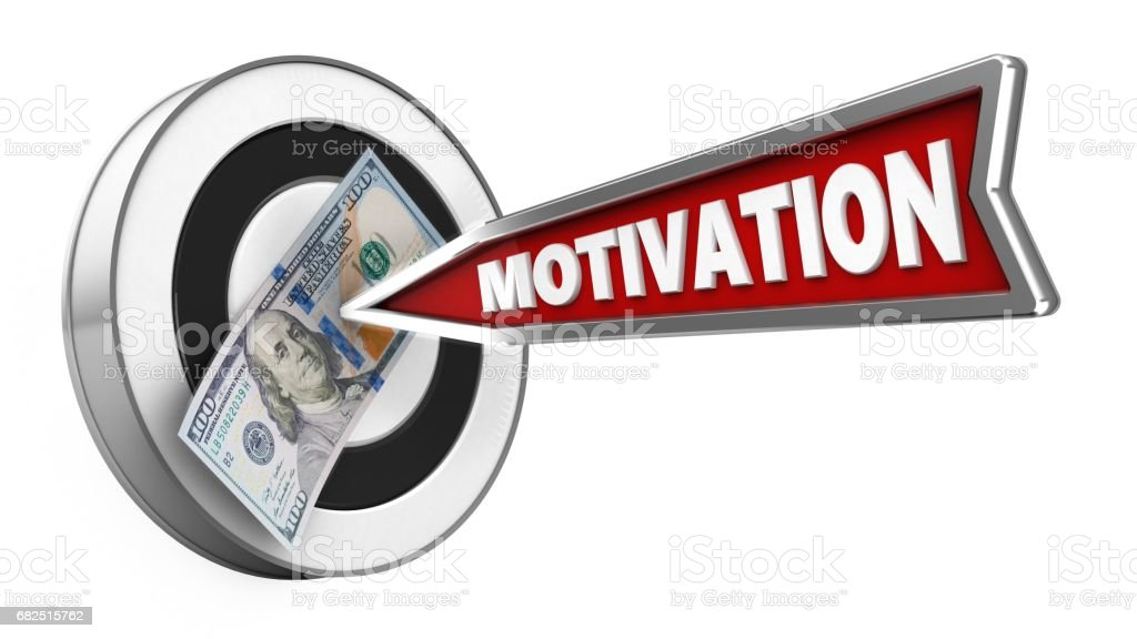 3d motivation arrow foto stock royalty-free