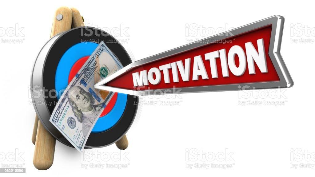 3D flecha de motivación foto de stock libre de derechos