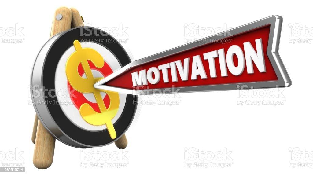 3D motivasyon ok royalty-free stock photo