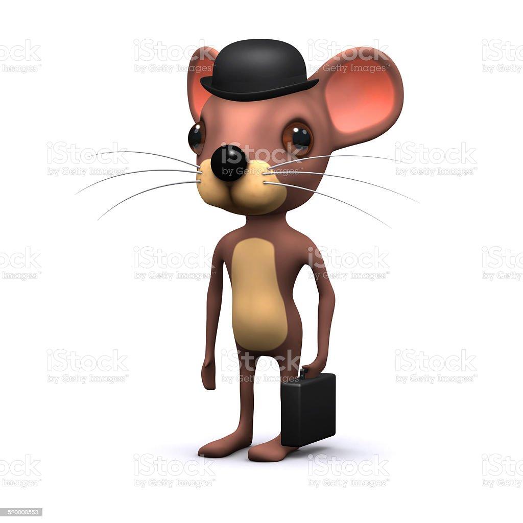 3d Mouse businessman stock photo