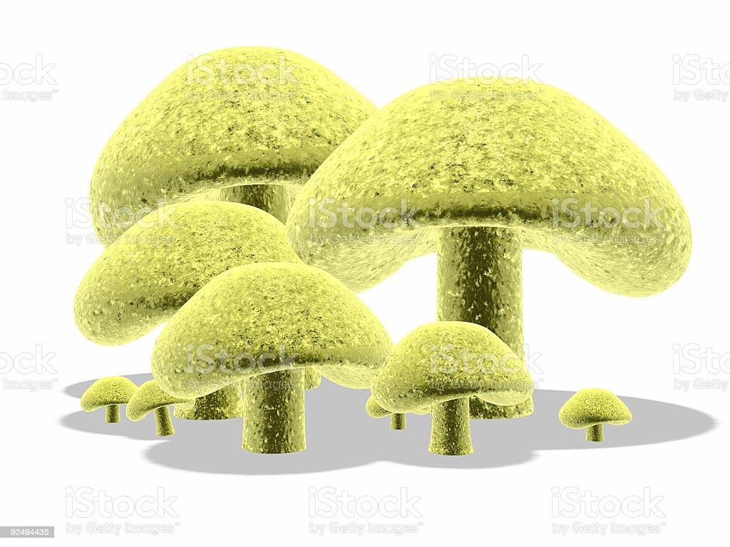 3d mushrooms #4 royalty-free stock photo
