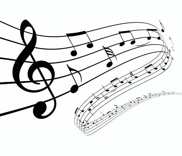 3 d note de musique danse loin - note de musique photos et images de collection