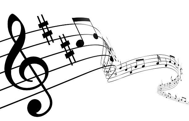 3 d note de musique - note de musique photos et images de collection