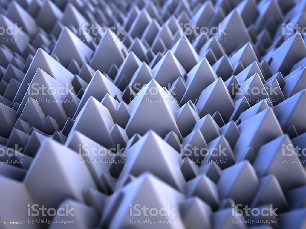 3d nano pyramides stock photo