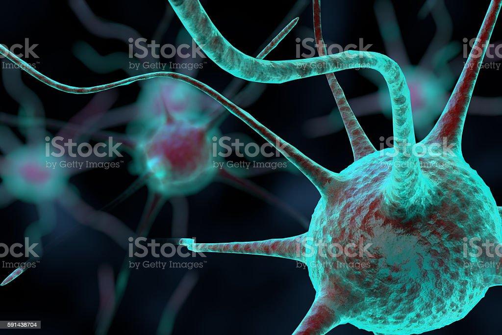Fotografía de 3 D Célula Nerviosa y más banco de imágenes de ...