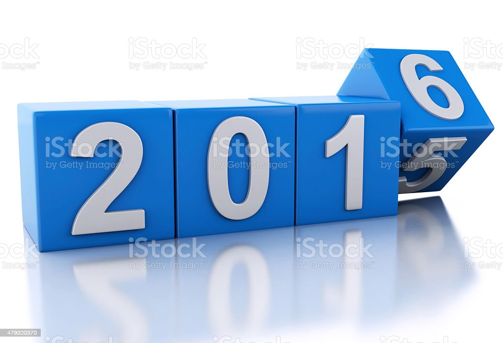 3d New Year 2016 stock photo
