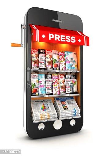 istock 3d newsstand smartphone 462495779
