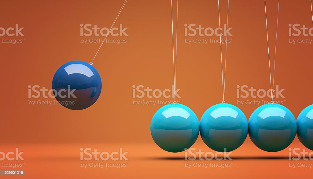 3d newton cradle stock photo
