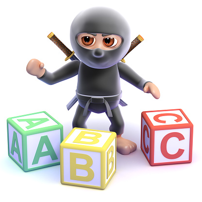 istock 3d Ninja spells 498996217