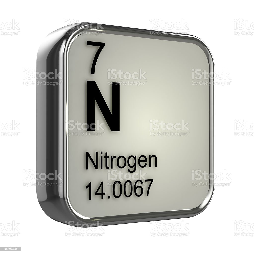 3d Nitrogen element stock photo