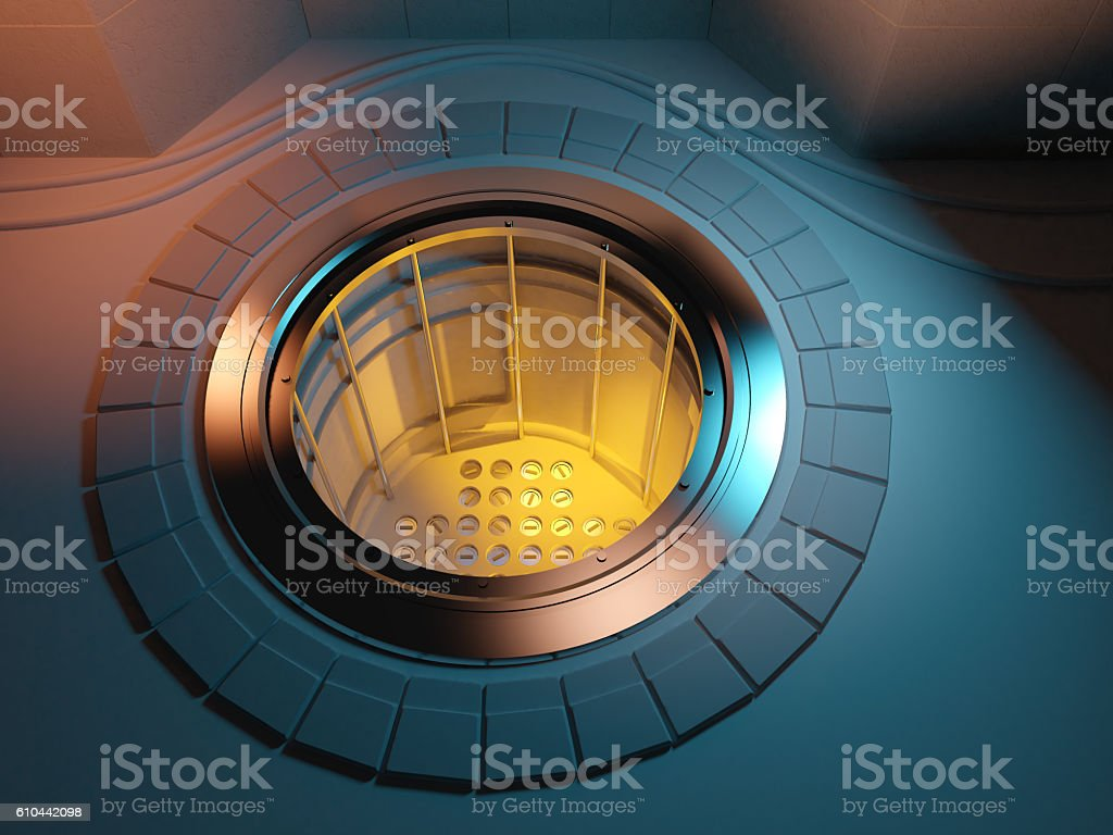 3d Nuclear reactor core meltdown stock photo
