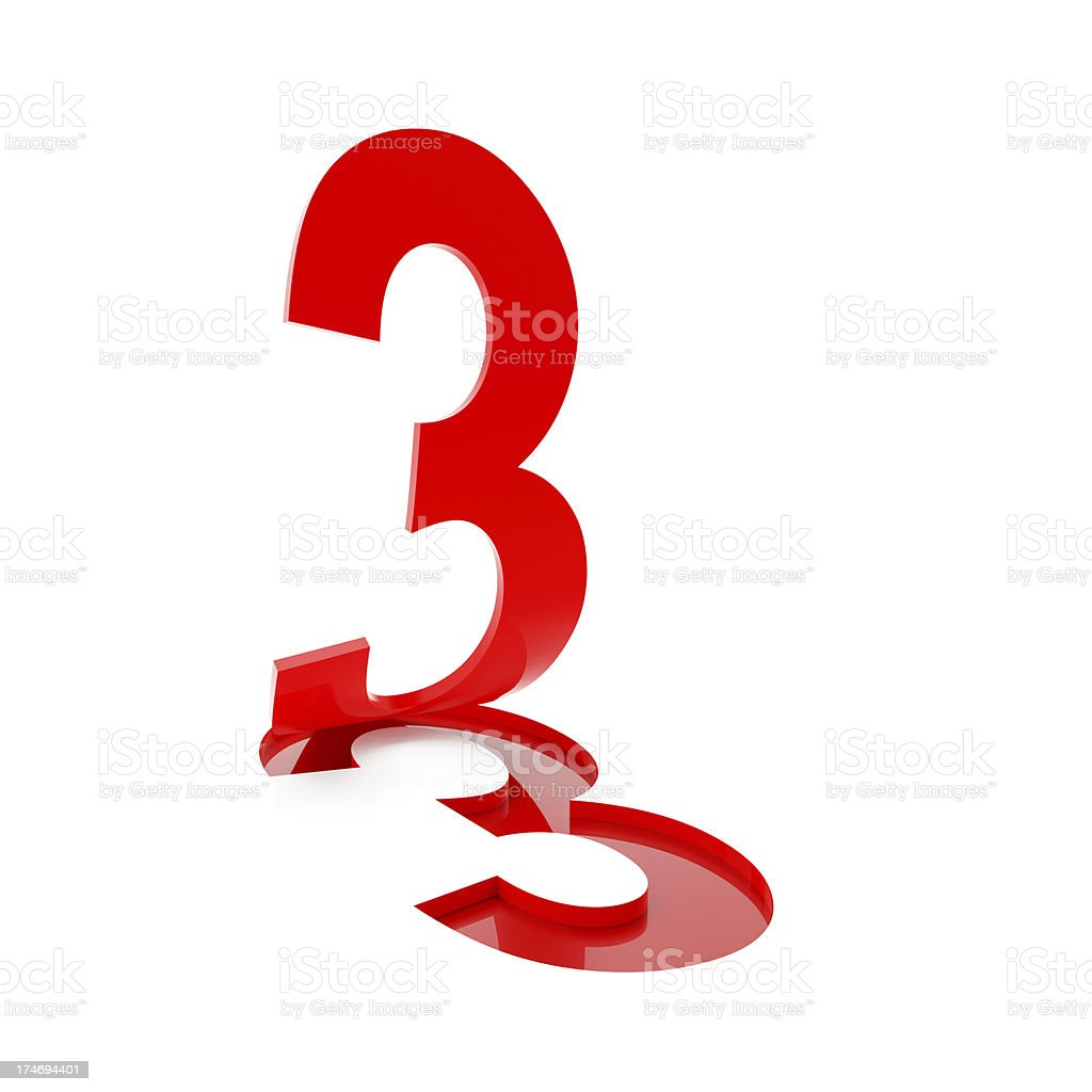 3d number 3 stock photo