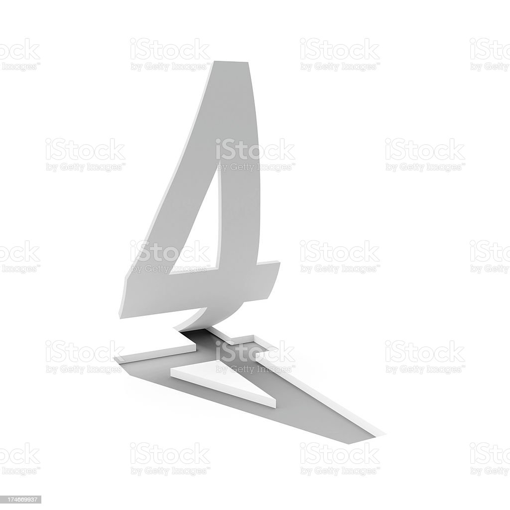 3d number 4 royalty-free stock photo